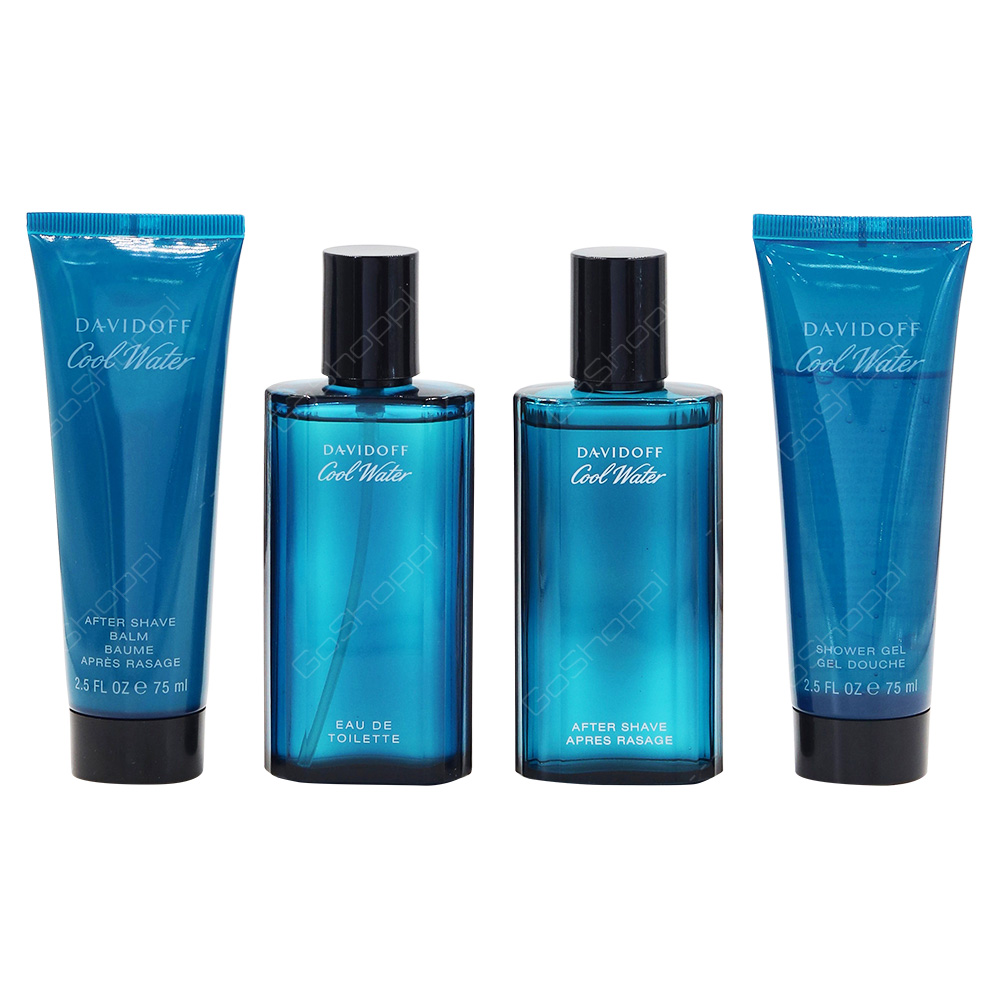 Davidoff Cool Water Gift Set For Men Eau De Toilette 75ml After Shave Balm 75ml Shower Gel 75ml After Shave 75ml