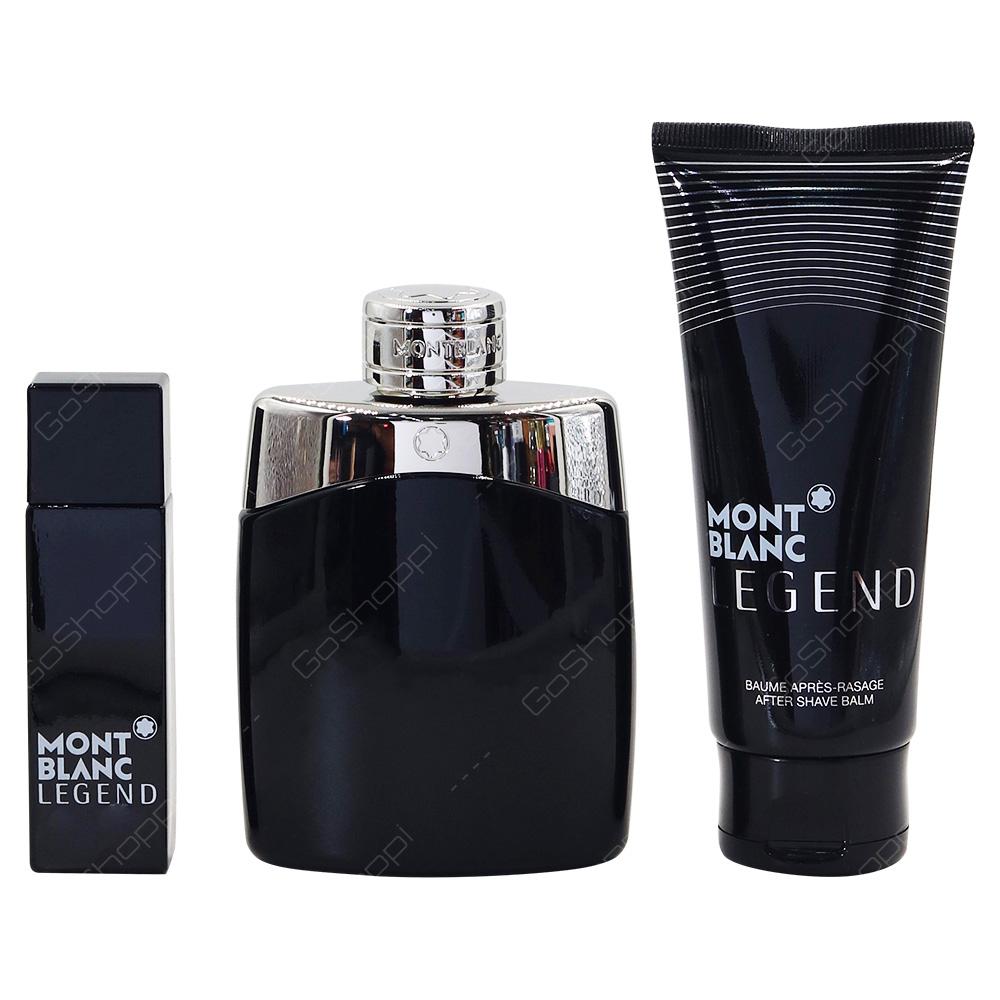 Mont Blanc Legend For Men Gift Pack Eau De Toilette 100ml Eau De Toilette 15ml After Shave Balm 100ml