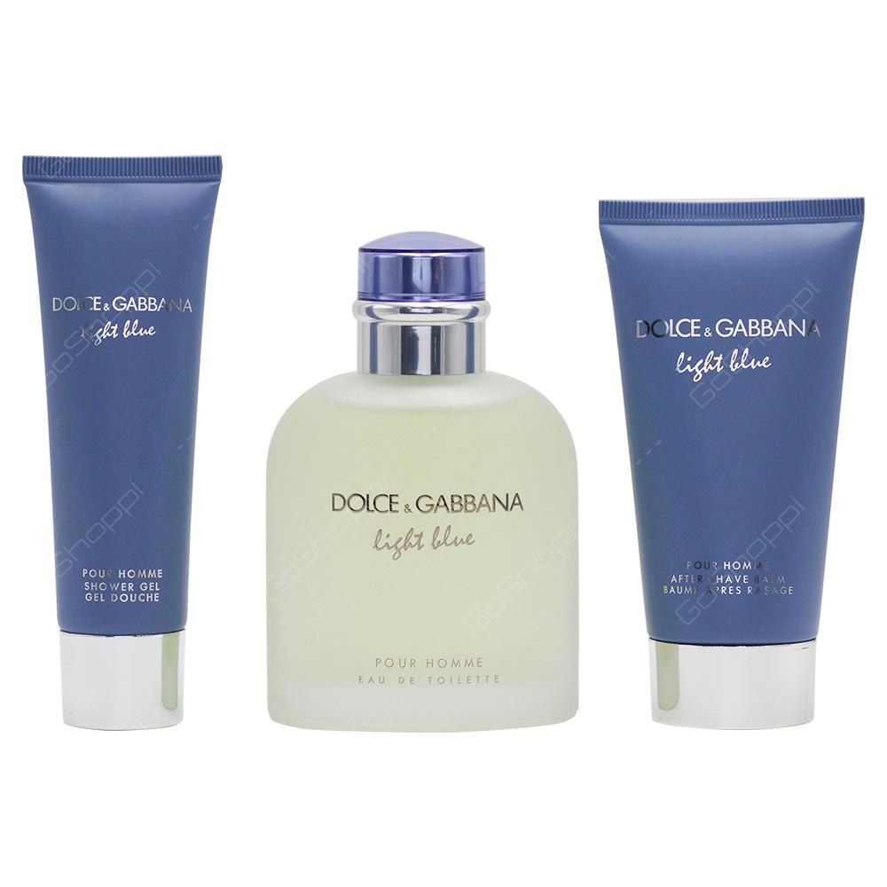 Dolce & Gabbana Light Blue Men Gift Set 3pcs