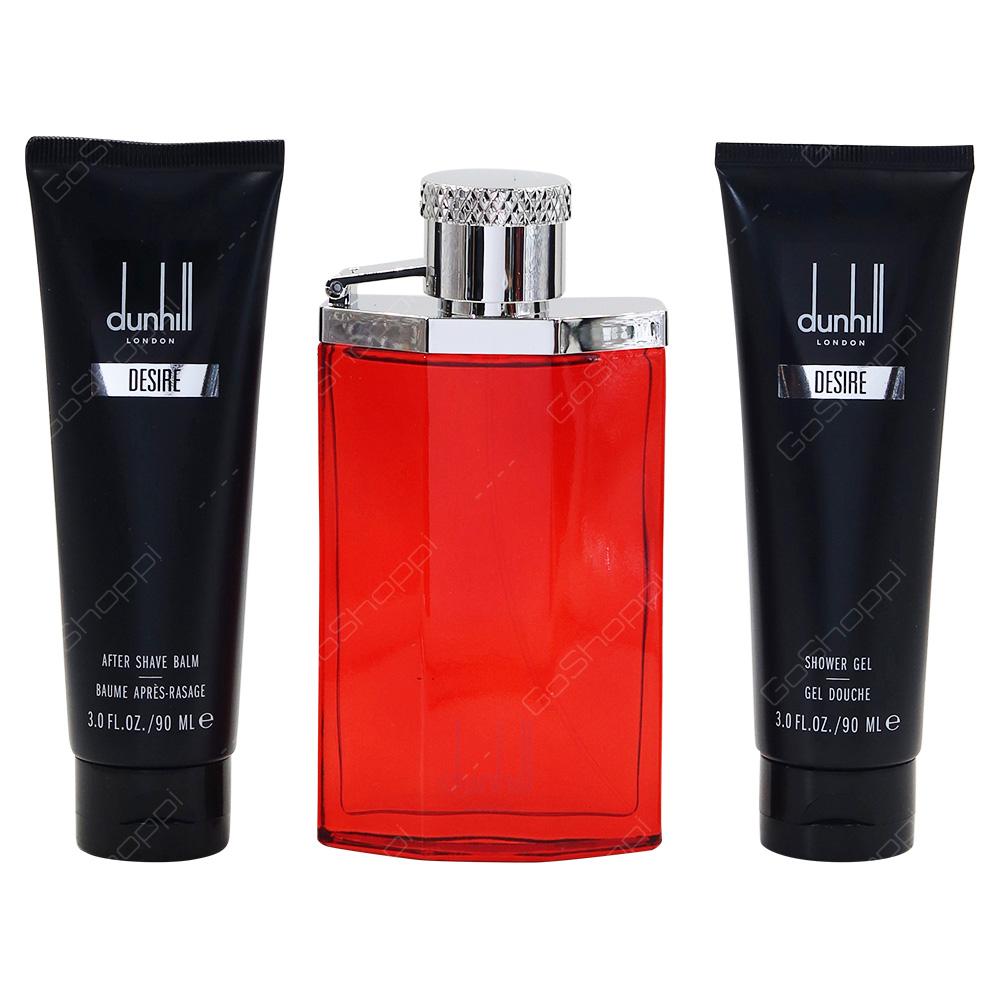 Dunhill Desire For Men Gift Pack Eau De Toilette 100ml Shower Gel 90ml After Shave Balm 90ml