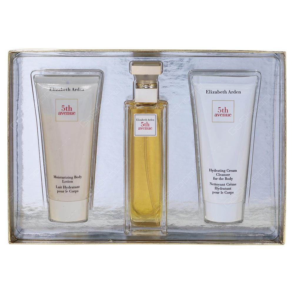 Elizabeth Arden 5th Avenue Gift Pack For Women Eau De Parfum 75ml Body Lotion 100ml Cleanser 100ml